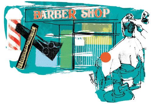 Una ilustración de peluquería