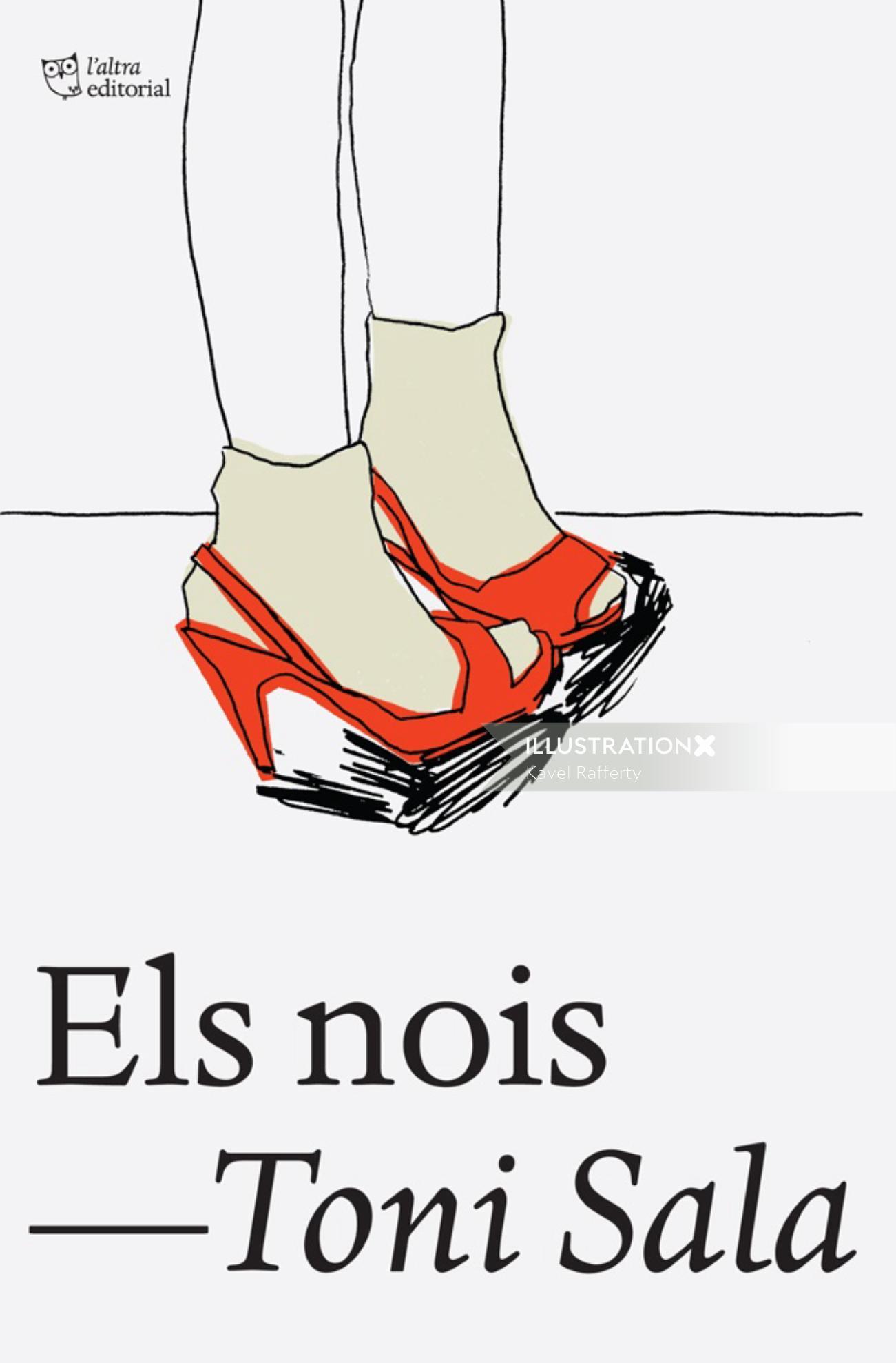 Line art of women's shoes