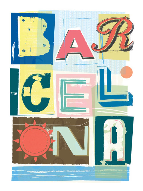 Typography Design Of Barcelona