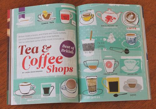 Los lectores resumen comida y bebida café y té