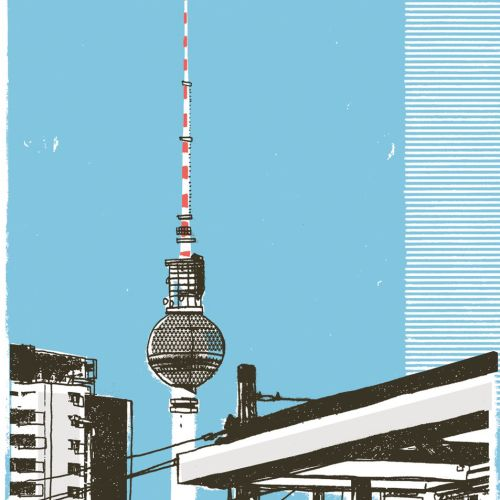 Fernsehturm Berlin mixed media art