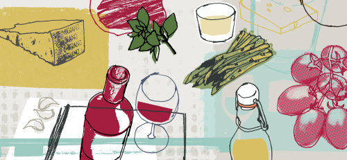 Food and drink illustration by Kavel Rafferty