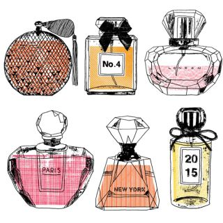 Perfume bottles illustration