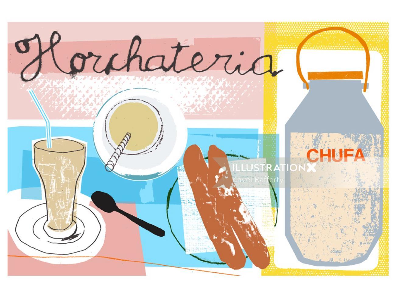 horchateria illustration