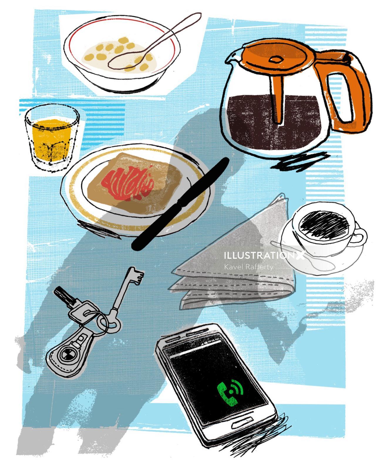 EGO Magazine Conceptual Breakfast