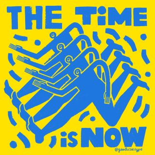 The Time Is Now typography