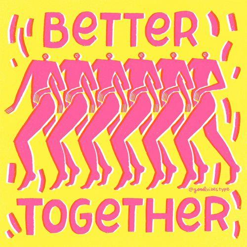 Better together word art