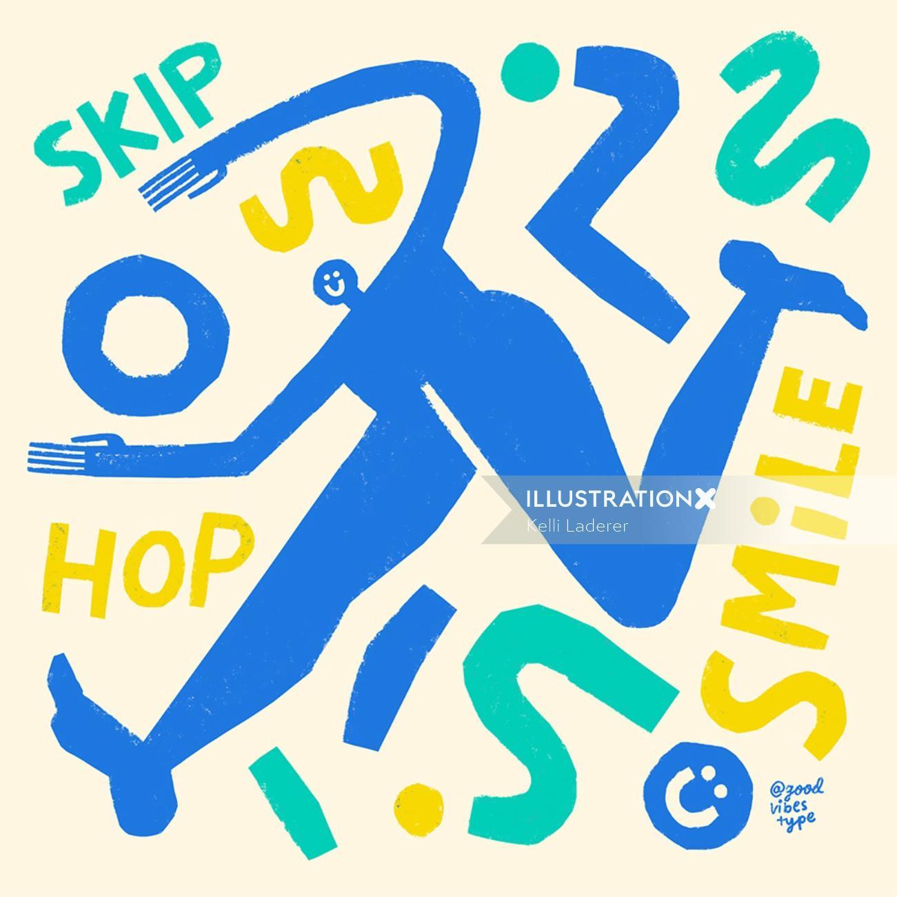 skip hop is smile typography