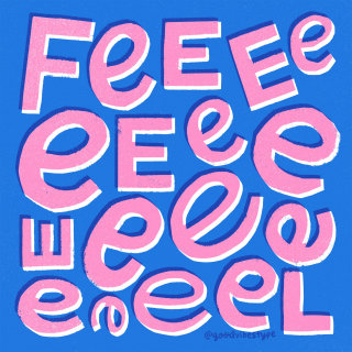 Feel lettering by Kelli Laderer