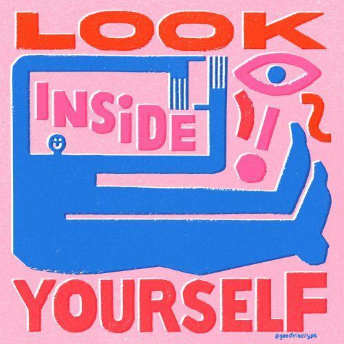 Look inside yourself storytelling illustration