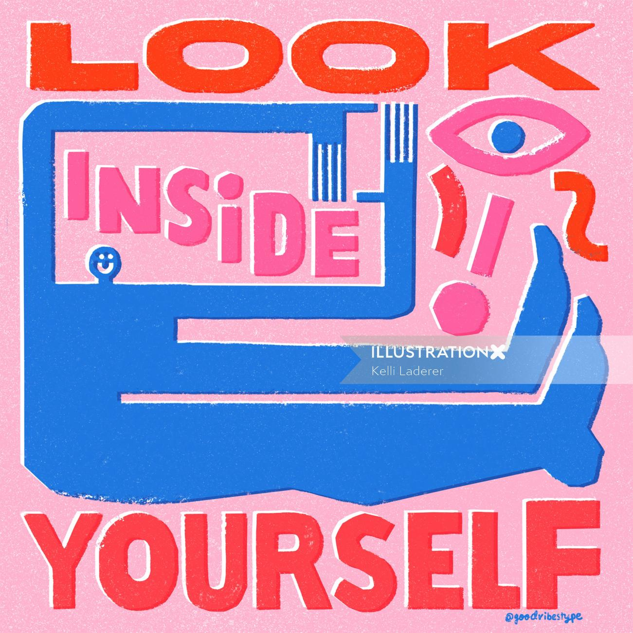 Look inside yourself storytelling illustration