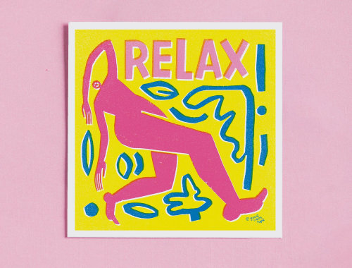 Relax mode typography