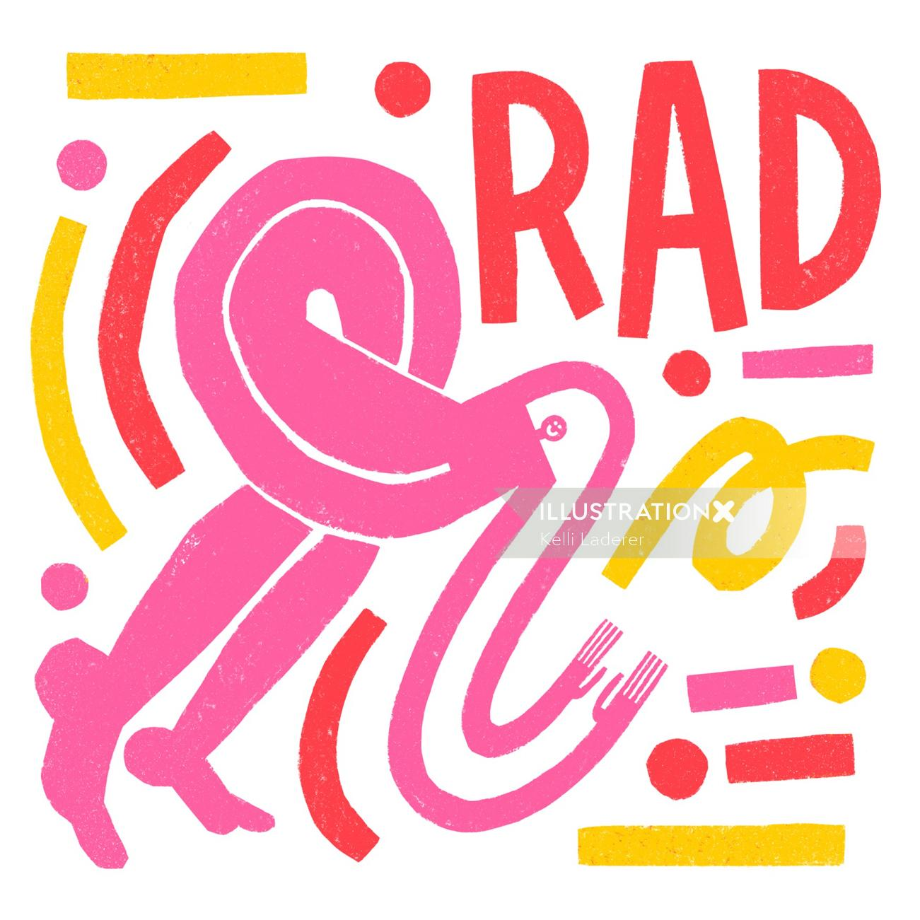 Rad hand lettering