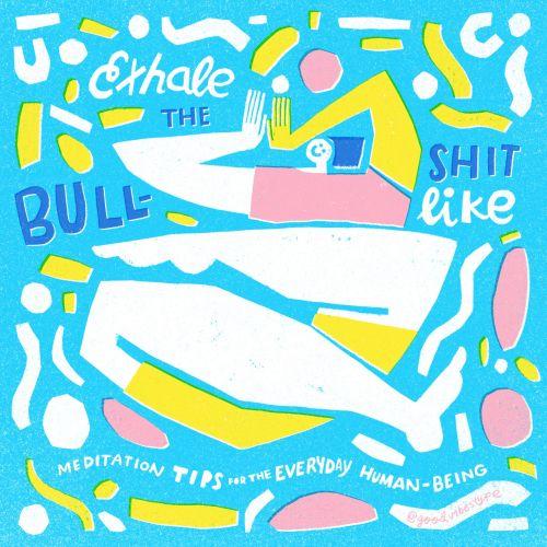 Exhale the bullshit lettering artwork