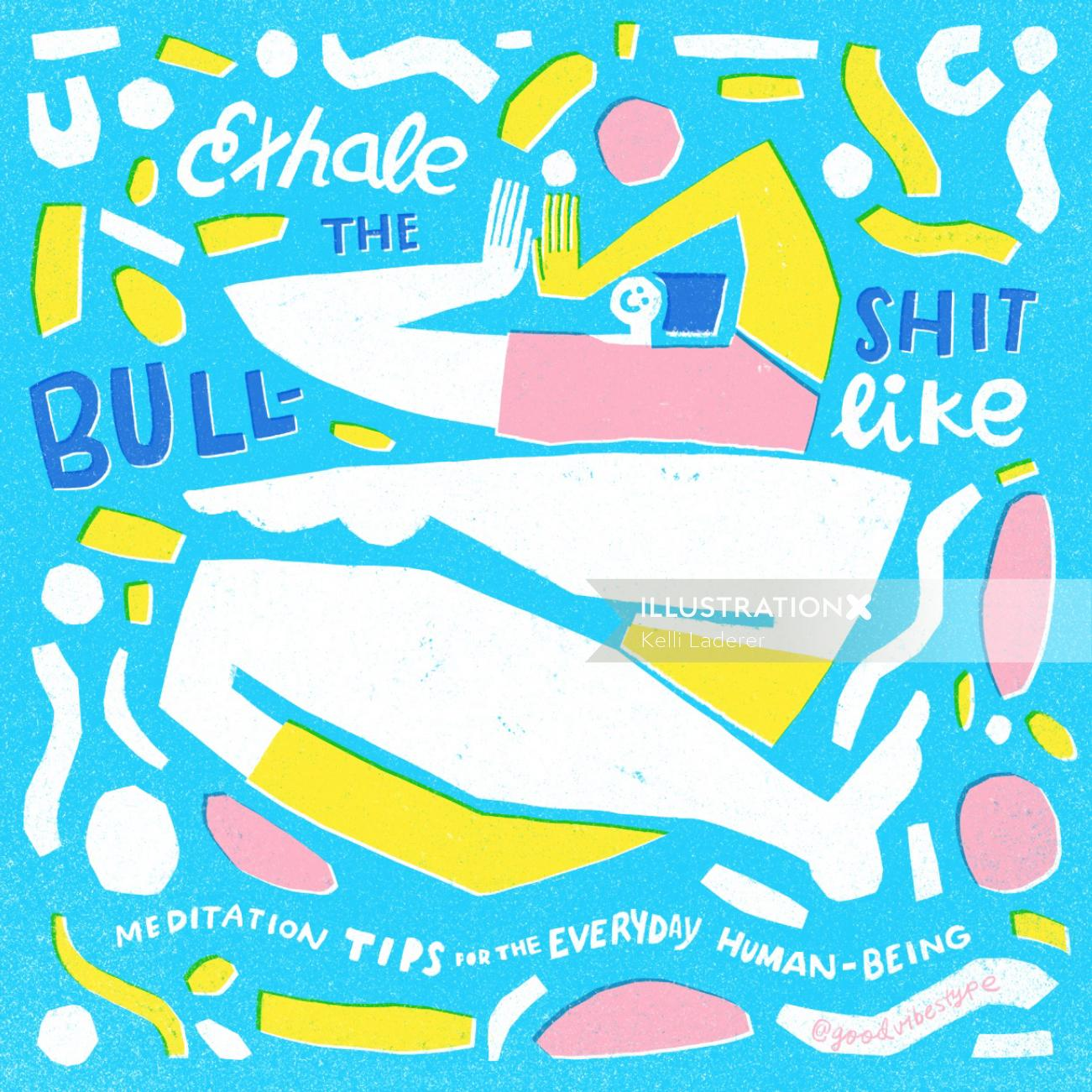 Exhale the bullshit lettering artwork