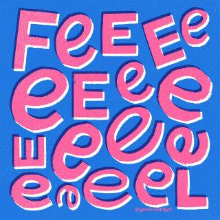 Feel letters editorial illustration