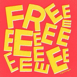 Free lettering illustration