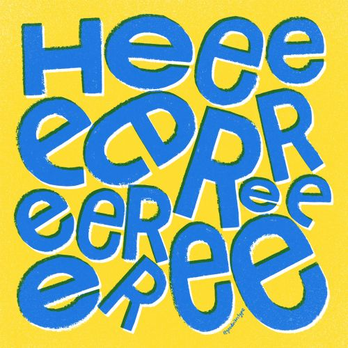 Here typography by Kelli Lederer