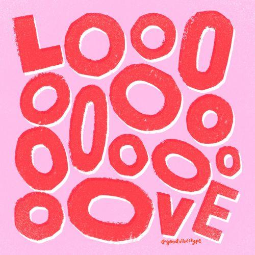 Love lettering illustration