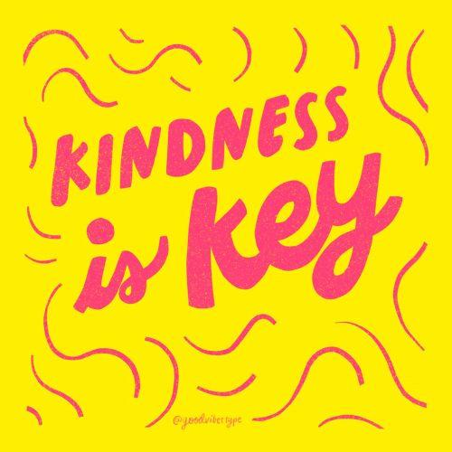 Kindness is key gif animation