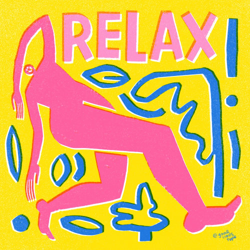 Relax typographic gif animation by Kelli Laderer