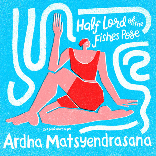 Lettering art of half lord of the fishes pose