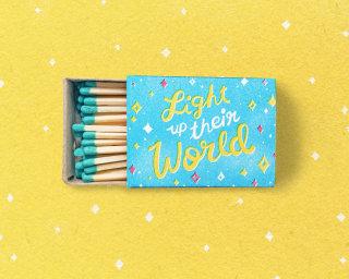 light up their world matchbox