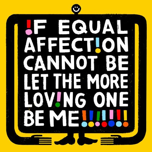 Calligraphy art of if equal affect on cannot be let the more loving on be me