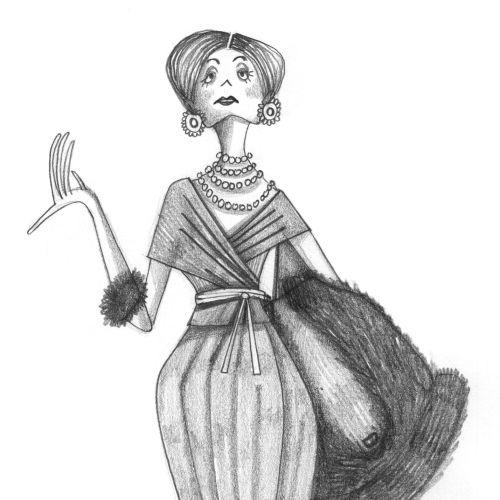 fashion woman with fur coat