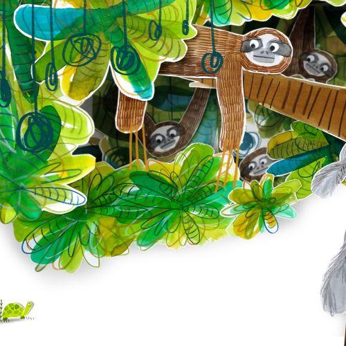 Animals monkeys and squirrels