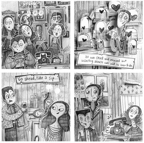 Children book comic illustration