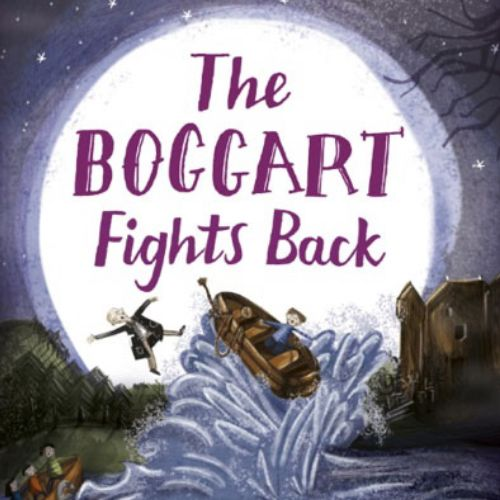 Book cover illustration of The boggart fights back
