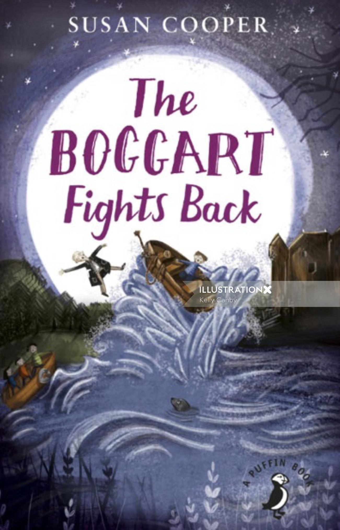 Book cover illustration of The boggart fights back