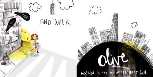 Lettering Olive and walk