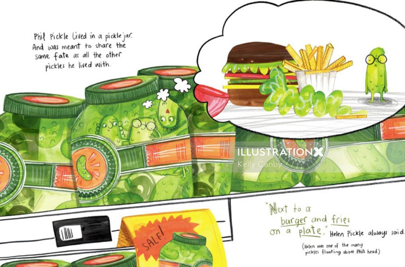 Food & Drinks burger and sauce