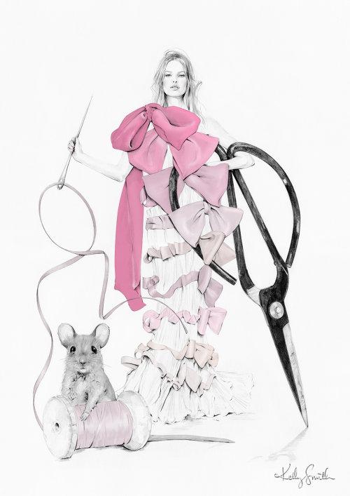Ilustração de moda do vestido Viktor & Rolf S / S 2005