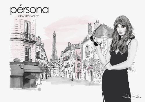 Ilustração para Persona Cosmetics