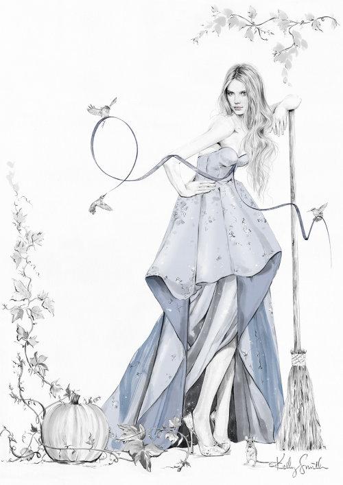 Ilustração da Cinderela de Charles Perrault