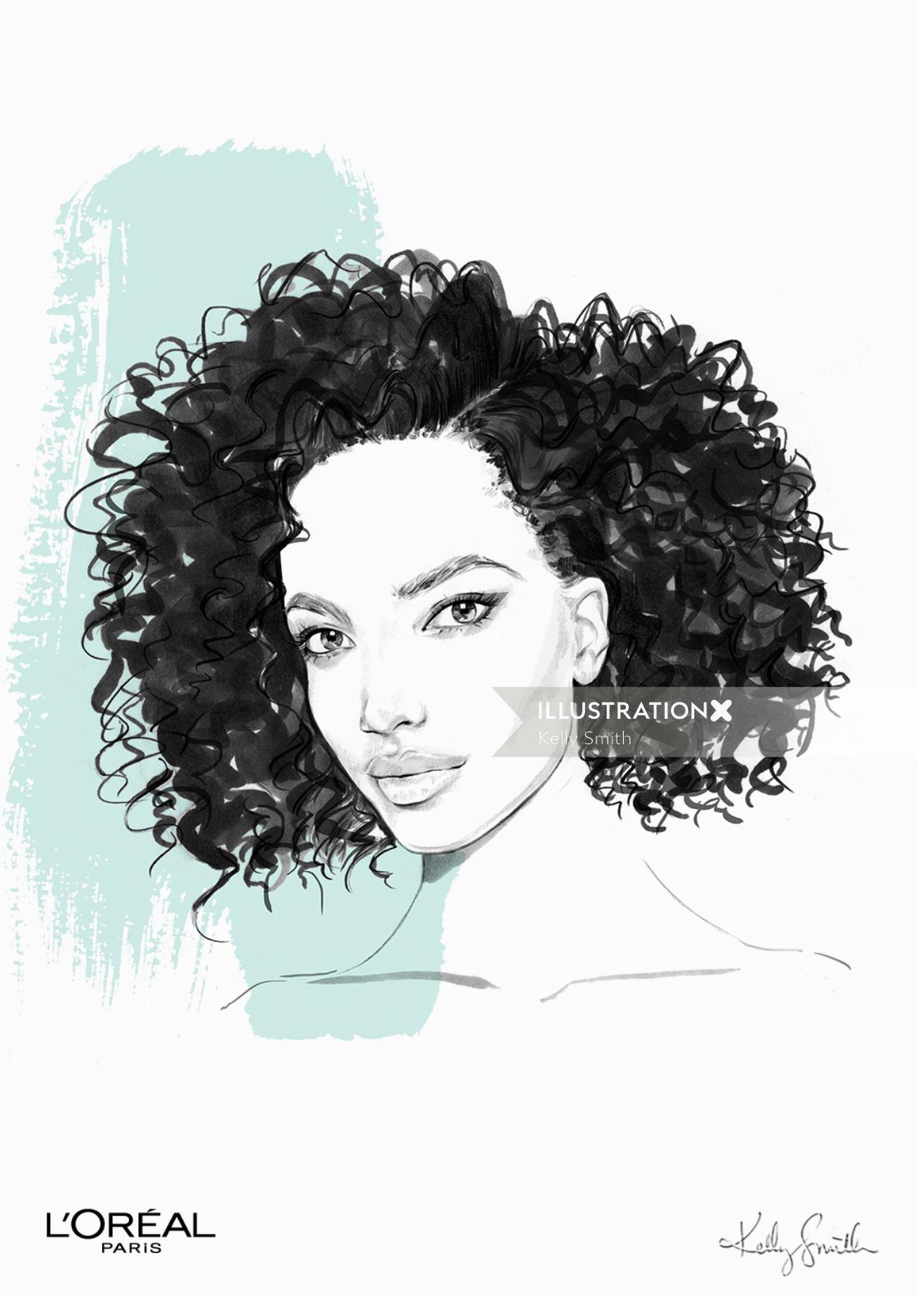 Illustration for L'Oréal Paris