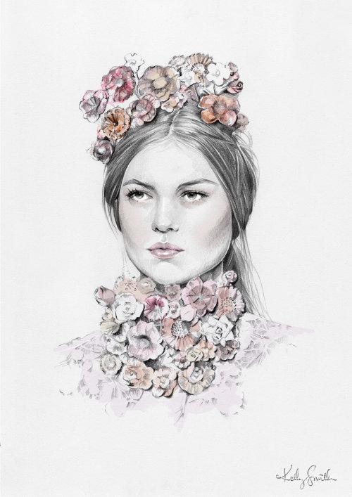 Arte do retrato de mulher