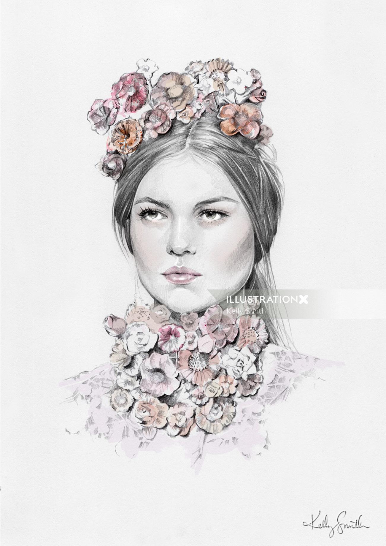 Portrait art of woman