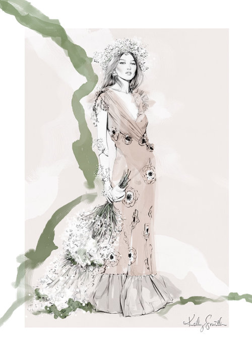 Personal work of Kelly smith based on Rodarte's Spring RTW 2018
