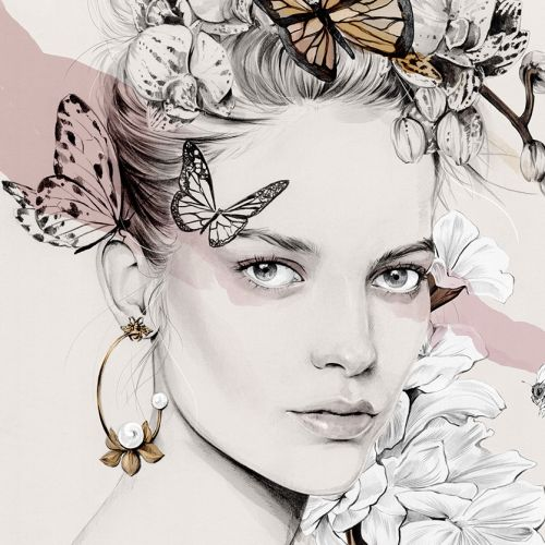 Kelly Smith International Fashion & Beauty illustrator. Australia