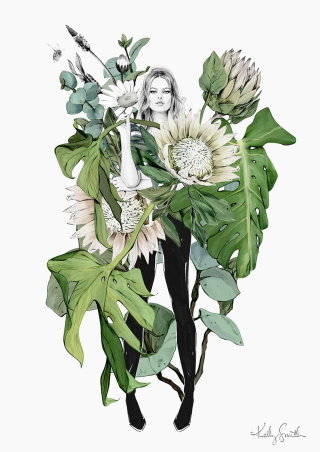 Botanical illustration by Kelly Smith