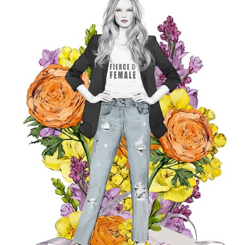 'International Women's Day' illustration for Maison De Fleurs