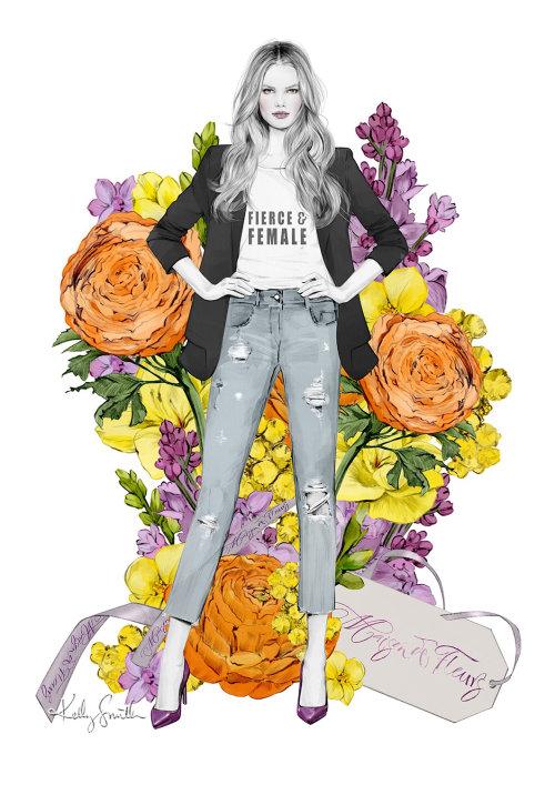 """Ilustração do """"Dia Internacional da Mulher"""" da Maison De Fleurs"""