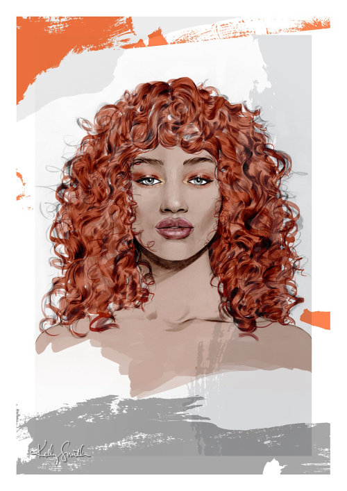 Illustration for Redken por kelly smith