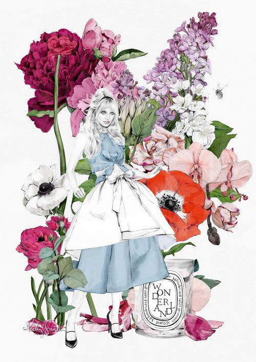 Ilustração das aventuras de Alice no país das maravilhas