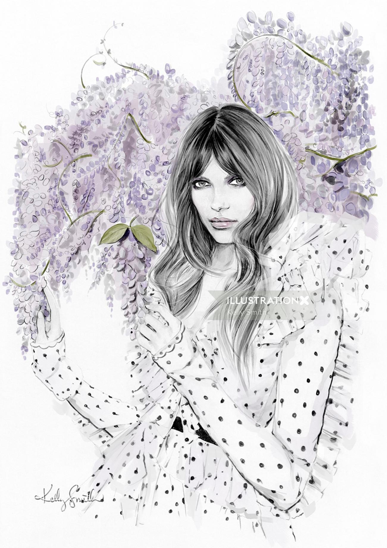 Illustration for The New Trend, Australian fashion retailer