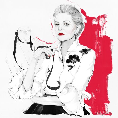 Carolina Herrera for the 2020 'Fiercely Female' calendar